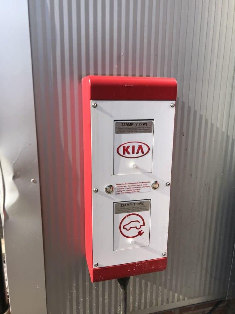 KIA Electric Vehicle Charging Station