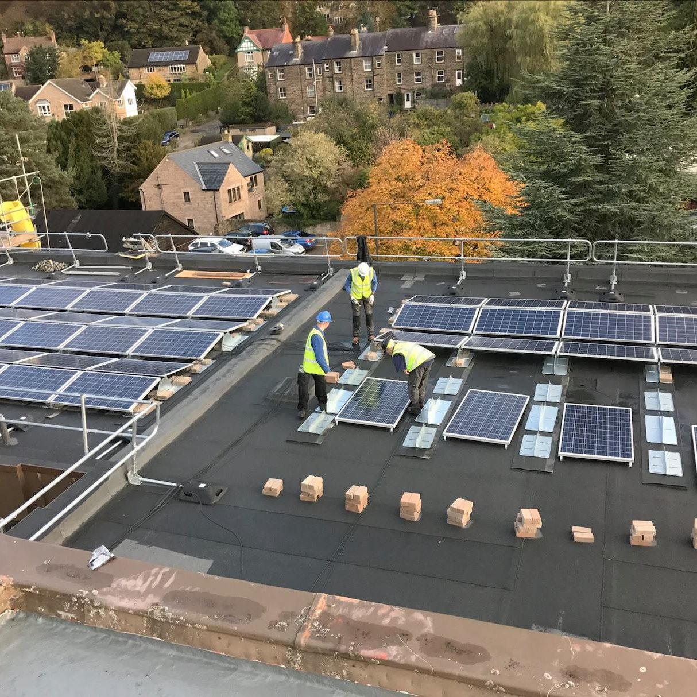 local authority solar panels installation